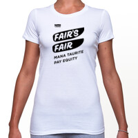 Fair's Fair Campaign T-Shirt white (fitted)